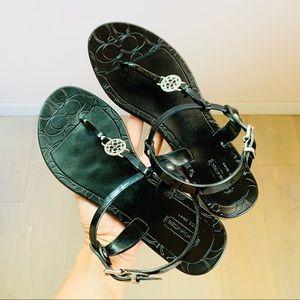 Coach tankle strap sandals